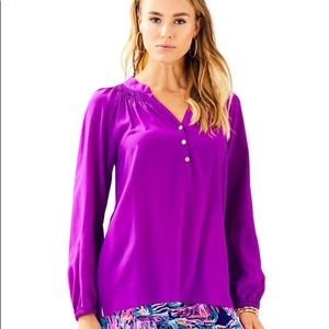 EUC Lilly Pulitzer purple Elsa Top size XS